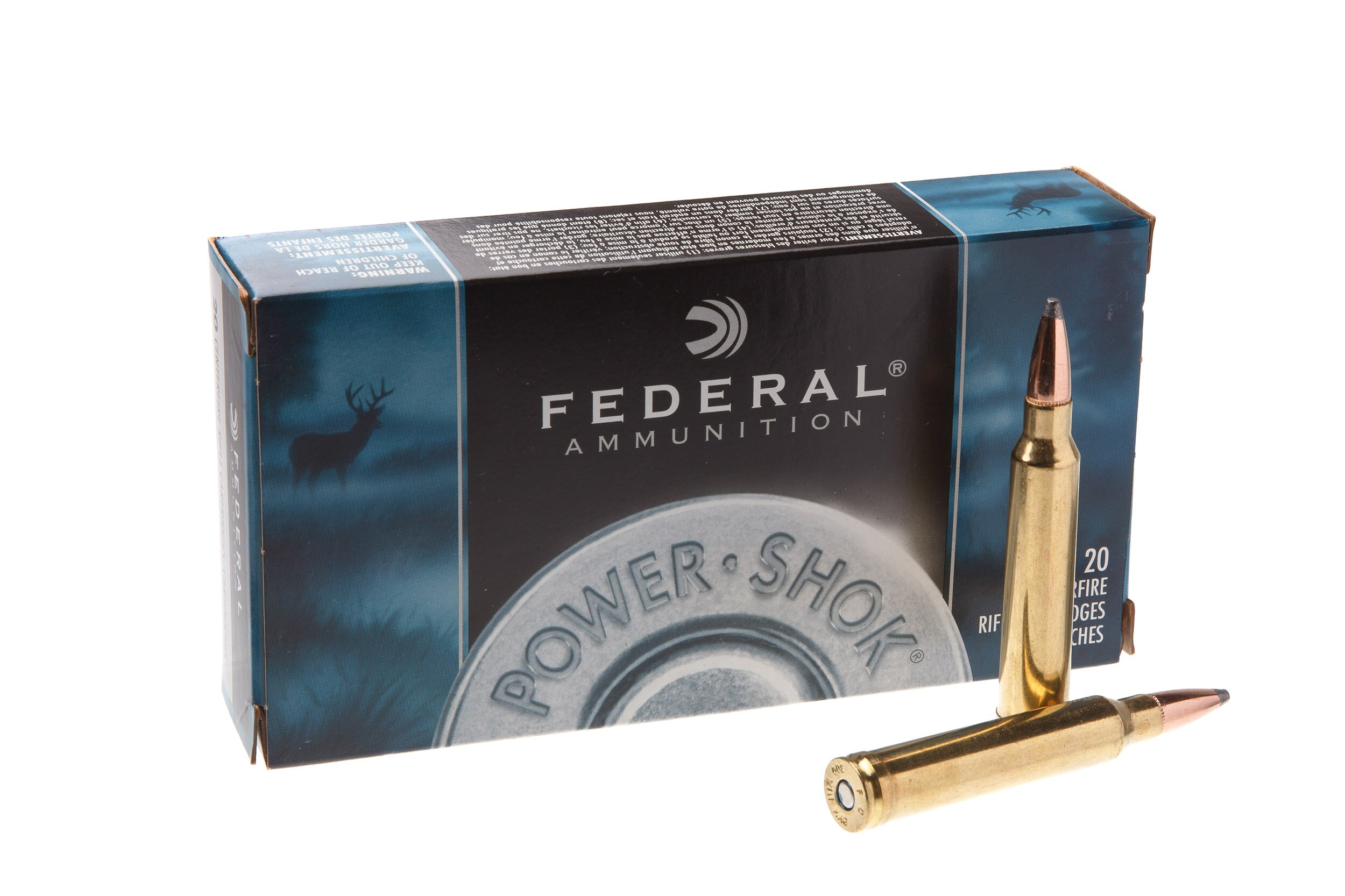 Патрон нарезной Federal Power shok 308WIN 180GR (11.7гр) SP 308Win